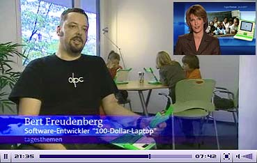 Bert and Olpc on German TV