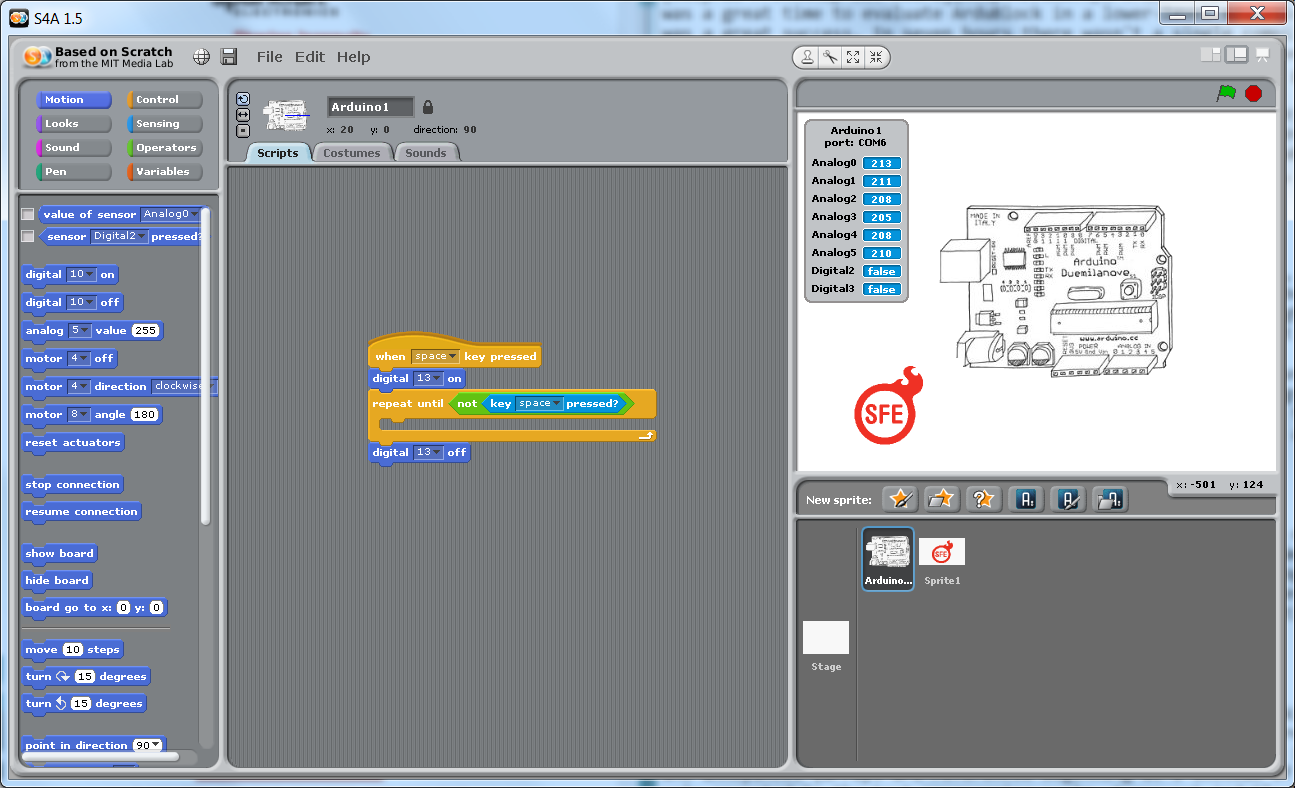 Scratch for arduino s a the weekly squeak